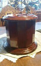 VINTAGE WOODEN HUMIDOR - Wood BOX - CANISTER - TEA CADDIE - URN - Metal lined