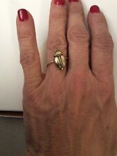 $29 Lucky Brand SCARAB, BEETLE Ring GOLDTONE, SIZE 7 #105