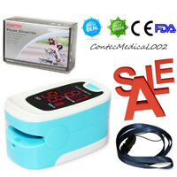 Finger Pulse Oximeter Blood Oxygen Meter SpO2 PR Heart Rate Monitor Patient,USA
