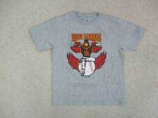 Majestic Rochester Red Wings Shirt Youth Large Gray Red Minor League Baseball