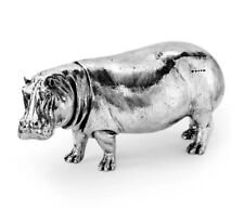 More details for hallmarked sterling silver hippo model