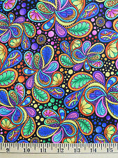 Quilting Treasures Carnivale Paisley 26372-j 100 Cotton Quilt Fabric BTY