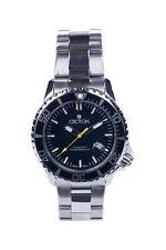 Croton Men's CA301299BKYL Quartz Date Black Dial Silver Bracelet 42mm Watch