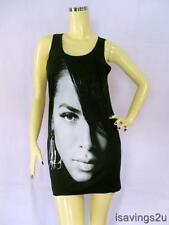 AALIYAH Tank Top, Princess R&B Urban POP Queen BLACK Singlet, T-shirt MINI Dress