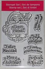 Clear Stempel transparent  Weihnachten Frohe Weihnachten in 7 Sprachen