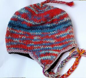 Hand Knitted Woolen Sherpa Hat from Nepal