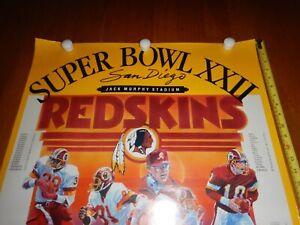 Vintage Super Bowl XXII poster Redskins Vs Broncos 1987 88 International galleri