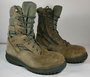 Belleville 610ZST Men Tactical Boots Sz 9.5 (R) US Military Green Steel Toe