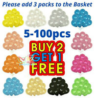 5-100 Large PLAIN BALOONS BALLONS helium BALLOONS Quality Party Wedding Birthday