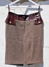 Preloved Dolce & Gabbana Diseñador Lana Mezcla falda hecha en Italia único Reino Unido 10