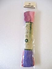 Olympus Japan Embroidery  SASHIKO Mix Color 2 Pink  Violet Thread 40m thick