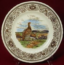 """MASON'S china GAME BIRDS brown DINNER PLATE 10-1/2"""" Red Grouse"""