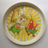 Vintage 1975 The First Years Bunny Rabbit Garden Farmer Child Feeding Plate