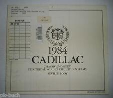 Elektrischer Schaltplan / Wiring Diagram Cadillac Seville Body Stand 1984