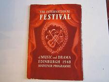 1948 THE EDINBURGH INTERNATIONAL FESTIVAL OF MUSIC & DRAMA PROGRAM - TUB B