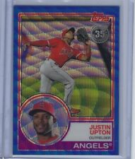 2018 Topps Series 2 Silver pack Justin Upton Blue Wave Refractor #90 49/75