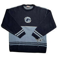 Vintage 90s Oxbow Men's Size Medium Whale Sweater Pullover Blue