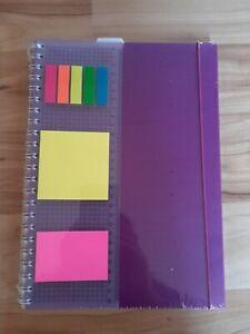 College/Spiralblock DIN A4 mit Lineal und Sticker, 100 Blatt, kariert, neu/origi