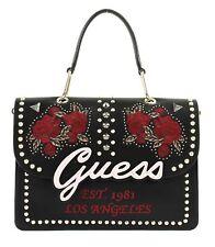 GUESS In Love Top Handle Flap Handtasche Umhängetasche Tasche Schwarz Rosa Neu