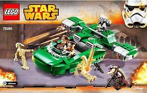 Lego® - 75091 - Flash Speeder Star Wars Episode 1 - 5 Minifigures New Sealed