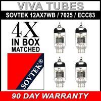 Gain Matched Quad (4) Sovtek 12AX7WB 7025 ECC83 Vacuum Tubes - Brand New