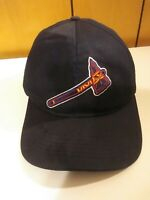 Atlanta Braves New Era MLB Black Baseball Hat Cap Tomahawk Adjustable 9twenty