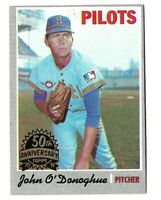 2019 Topps Heritage 50th Anniversary Buyback 1970 John O'Donoghue Seattle Pilots