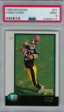 Hines Ward 1998 Bowman Rookie Card RC PSA 9 Mint Pittsburgh Steelers