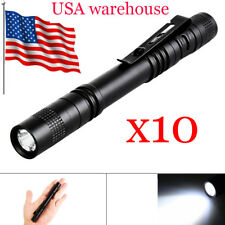 Portable Mini Pen Light LED Flashlight Torch Flash Light Power By 2x AAA battery