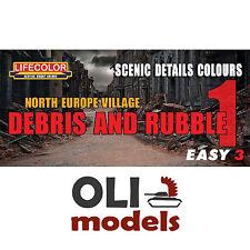 North Europe Debris & Rubble 1 Scenic Colors Easy 3 Paint Set Lifecolor Ms07