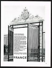 1963 Original Vintage France Travel Tourism Gate Photo Print Ad