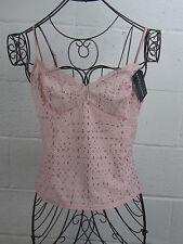 NWT - Ralph Lauren Pink Eyelet Sheer Back Camisole Cami Top Size M Medium $33