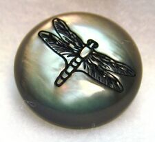 Set of 2 Laser Etched Pearl Resin Button Dragonfly Mde in FranceFree Us Shipping