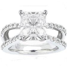 1.52 ct Radiant cut Diamond Engagement Ring 14k White Gold F-G SI2 1.82 tcw