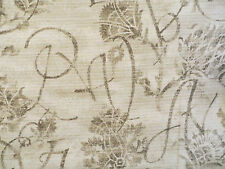P. Kaufmann Calligraphy decorator material by Ingrid Finnan in subtle khaki tone