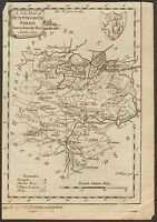 1784  ANTIQUE MAP-A NEW MAP OF HUNTINGDONSHIRE