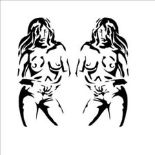 2Pc Naked Lady Sticker 20 x 10cm Graphic All Colours Gloss Vinyl Decal -GRAP0063