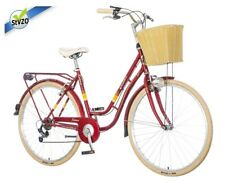 breluxx® 28 Zoll Damenfahrrad Venera Fashion Karma rot Citybike, Korb + Licht