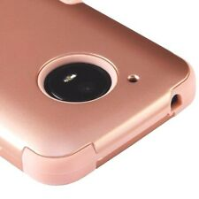 For Motorola Moto E4 XT1762 - Hybrid HARD&SOFT Armor Phone Case Cover Rose Gold