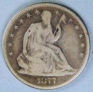 1877 CC SEATED LIBERTY HALF DOLLAR *2686