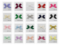 Satin Ribbon Bows 7mm  With Cluster of Beads Many Colours Listed Sewing Craft