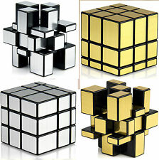 Fast & Smooth COMBO 3x3x3 SILVER + GOLDEN Mirror Magic Matching Rubik Cube Set