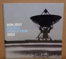 Jon Bon Jovi Bounce World Tour Book souvenir concert program 2003