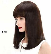 LMJF60 charming straight long fashion dark Brown hair wig wigs for women