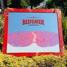 "Beefeater London Beer Bar Pub Huge Big Mirror Sign Man Cave ""New"" 42x35"