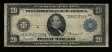 1914 $20 Federal Reserve Note Blue Seal Large Size