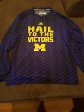 Michigan Wolverines Adidas Hail to the Victors long sleeve shirt XL..nwot