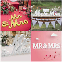 LARGE Mr and Mrs Letters Sign Wooden Standing Top Table Wedding Decoration Hot