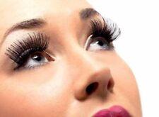 Negro Falso Pestañas Largo Artificial Mujer Eyeleashes Accesorio de Disfraz