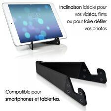 Support Universel Pliable de poche couleur noir pour tablette et smartphone Micr